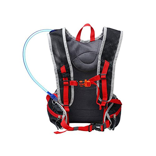 Radfahren Rucksack, 20L Wasserdicht Atmungsaktiv Fahrrad Hydration Rucksack mit Wasser Blase und helmet-mounted Mesh Tasche für Laufen, Wandern, Radfahren, Mountainbiken grün