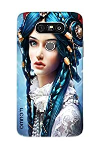 Omnam Beautiful Girl In Blue Hair Printed Designer Back Cover Case For LG G5