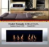 Gel y Etanol Chimenea modelo Tornado / Elija entre 6 colores diferentes (Acero inoxidable)