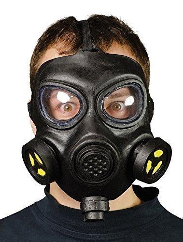 Masque à Gaz Hommes Adulte WW2 Noir Accessoire Déguisement Halloween