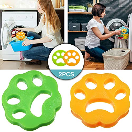 Quitapelos para Mascotas,TOPOFU Cepillo de Limpieza para el Cabello para Mascotas para Lavar la Ropa Reutilizables No Tóxicas Herramienta de Limpieza de Pelo de Animales para Lavadora (2PC)