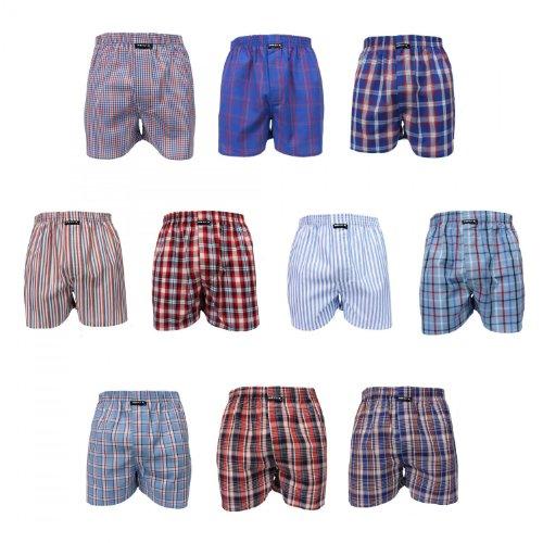 10 Stück MG-1 Webboxer Boxershorts Shorts Boxer Herren desortierter Farbmix , Grösse:XL - 7 - 54, Farbe:mehrfarbig, Menge:10 er Pack