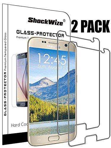 Für Samsung Galaxy S9von shockwize Premium [gehärtetem Glas] Screen Protector HD Transparenz stoßfest Galaxy S9, 2-Pack