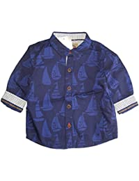 d2cfc8d8ed891 Baby Boys Shirt Age 6 9 Months Nautical Sailing Boat Smart Summer Party