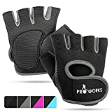 Best Yoga Gloves - Proworks Ladies Fingerless Gym Gloves | Padded Weight Review