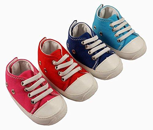 MiniFeet Chaussures bébé enfant en bas âge chaussures de toile chaussures, Baskets, 0-6, 6-12,12-18 18-24 mois