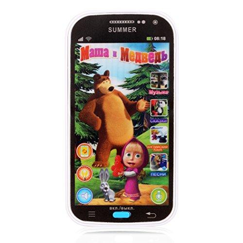 Befied Kinderhandy Babytelephone russische Sprache pädagogisches Spielzeug Telefon (Weiß)