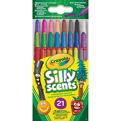 Twistables Marker (Crayola 52-9621-E-000 21 Silly Scents Duftende Twistable Wachsmalstifte)
