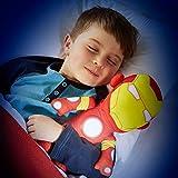 2 in 1 Avengers Ironman Nachtlicht + Plüschfigur Nachttischlampe Kuscheltier Stofftier