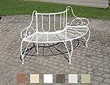 CLP Baumbank Jette aus lackiertem Eisen I Elegante Rundbank Design I In Verschiedenen Farben erhältlich Weiß