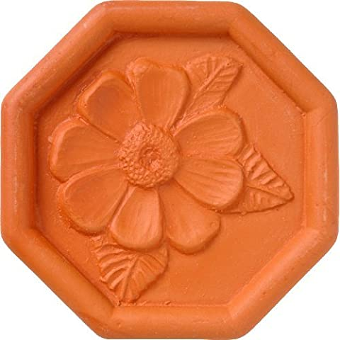 JBK Daisy Terra Cotta Brown Sugar Saver by JBK Pottery