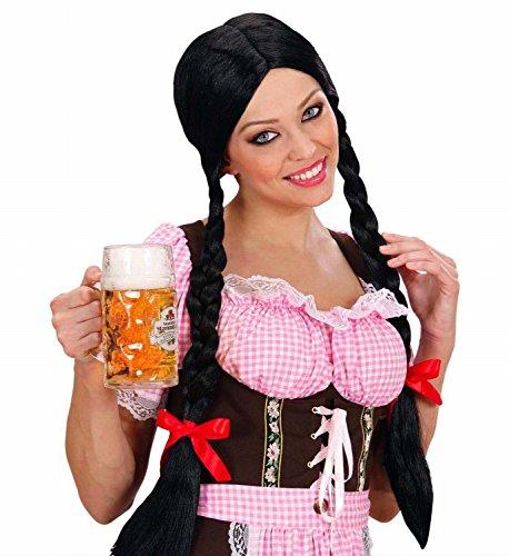 Ideen Kostüm Mit Perücken Schwarzen - Gretel Perücke mit Zöpfen schwarz Perrücke