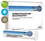 NOBILIN Magnesium 60 Brausetabletten – VEGAN – 200 mg reines Magnesiumcarbonat mit fruchtigem Zitronengeschmack • 2-Monatsvorrat • Bekannt aus Ihrer APOTHEKE
