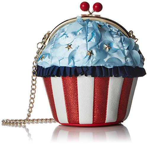Betsey Johnson Damen Bag Backed in The USA Americana, Cupcake-Tasche, multi, Einheitsgröße