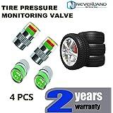 Pligh(TM) 4pcs/lot Car Auto Tire Pressure Monitor Valve Stem Cap Sensor Indicator 3 Color Alert Drop shipping D10