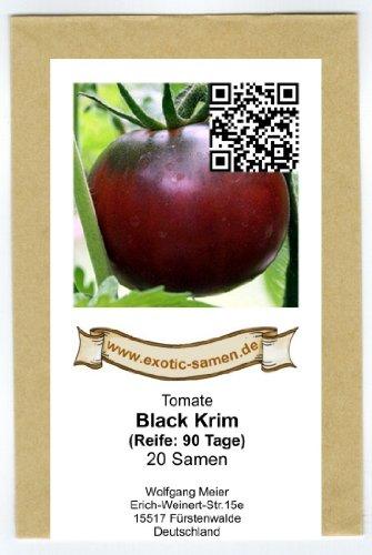 Schwarze Fleischtomate mit hohem Zuckergehalt - Black Krim - 20 Samen - Resistent Krankheiten Tomaten-samen, Die Gegen