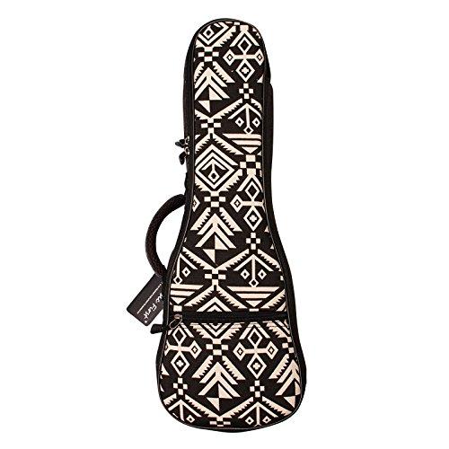 """MUSIC FIRST Ukulelen-Tasche """"Aztec"""" mit Vintage-Muster im Azteken-Stil, Baumwolle 21 inch Soprano Aztec"""