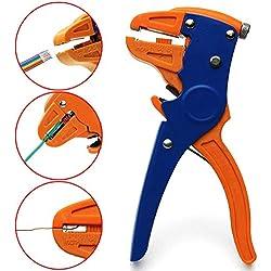 Pince à dénuder et coupe-fil automatique, outil de dénudage robuste 2 en 1 pour réparation électronique et automobile