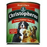 6 x Allco Christopherus Rind & Herz 800 g, Hundefutter, Nassfutter