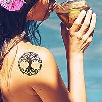 Viking Norse - Tatuaje temporal (conjunto de 2)