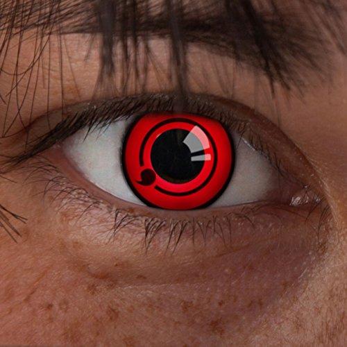 (aricona Farblinsen Sharingan Kontaktlinse Eyes -Deckende,farbige Jahreslinsen für dunkle und helle Augenfarben ohne Stärke,Farblinsen für Cosplay,Karneval,Fasching,Motto-Partys und Halloween Kostüme)