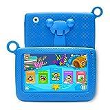 A2 Tablette Tactile Enfants 7 Pouces Android 6.0, Tablette PC avec Manchon en Silicone - Quad Core 2 GO de Ram+32 GO de Rom, IPS 1280x800, Double Caméra, Tablette avec WiFi, Bluetooth, Google Play
