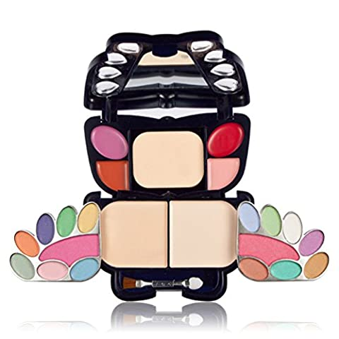 TimeSong Professional Makeup Palette Cosmetic Foundation Set -14Colors Eye Shadows +Concealer+ Foundation Powder +2 Colors Blusher + 4 Colors Lipstick &