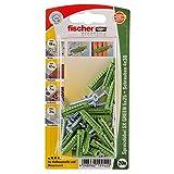 Fischer Spreizdübel SX Green 5x25 S K, 20 x Spanplattenschraube 4 x 30, 524817