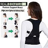BNMYSY Geradehalter Haltungskorrektur, Körperhaltung Korrektor einstellbare Rücken Lordosenstütze Korrektor Schulter Band Haltung Korrekte Gürtel für Kinder Erwachsene,XL