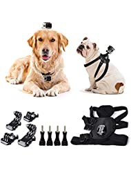 Togetherone Verstellbar Hund Brustgurt Hundegeschirr Brusthalterung für GoPro Hero 5/4/3+/3/2/1 SJ4000 SJ5000 SJ6000 Rollei DBPOWER VicTsing VTIN APEMAN WiMiUS ThiEYE QUMOX Xiaomi Yi und Andere Sport Action Kamera