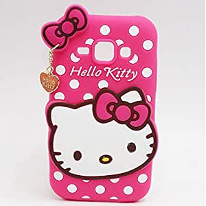 Hello Kitty Silicone With Pendant Back Case Cover For REDMI 2s