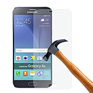 PLT24 Panzerglas Schutzglas 9H Hartglas Glasfolie Displayschutzglas Schutzfolie Display Folie für Samsung Galaxy A8 A800F