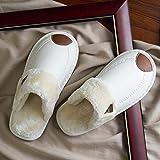 YSFU Hausschuhe Frauen Winter Home Hausschuhe Wasserdicht Rutschfeste Weiche Warme Innen Schlafzimmer Paar Boden Schuhe, 41