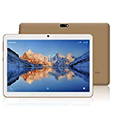 Tablet 10 Zoll HD YOTOPT - Android 7.0, Quad Core, 2GB RAM, 16GB eMMC, 3G, WiFi, Dual-SIM WiFi/Bluetooth/GPS (Golden)