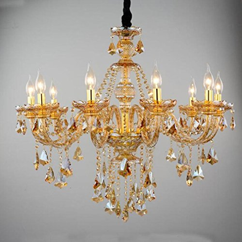 MULANG European Crystal Kronleuchter, Candle Living Room Kronleuchter, Restaurant Hotel Projekt dekorative Leuchten , (Halloween Kolonial Kostüme Mann)
