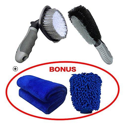 Car-Wheel-Brush-set-Meiso-strumento-kit-di-spazzole-per-pulizia-auto-tire-RIM-scrub-Brush-Brush-Cleaner-morbido-in-lega-Tie-auto-ruota-guanti-e-panno-di-pulizia