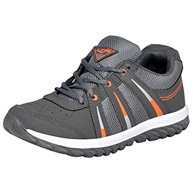 Lancer Indusdgr-Org-40 Men's Grey Orange Sports Shoes(40)