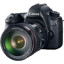 Canon EOS 6D 20.2MP Digital SLR Camera (Black) + 24-105mm IS USM Lens Kit