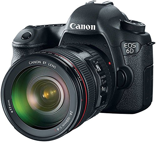 Canon EOS 6D 20.2MP Digital SLR Camera (Black) + 24-105mm IS USM Lens Kit