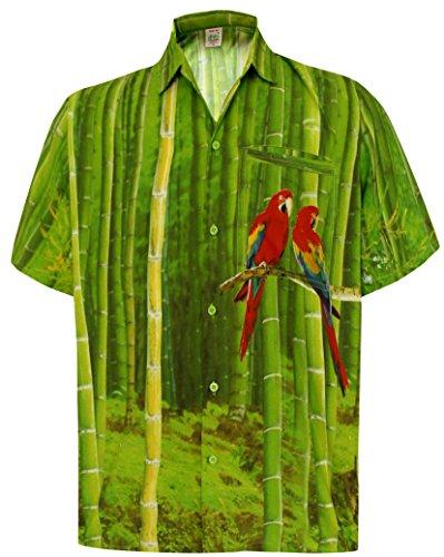 La-Leela-Loro-Botn-Casual-Playa-Vertical-descendente-XXL-Verde-el-Hawaiano-de-La-Hawaiana-Hombres