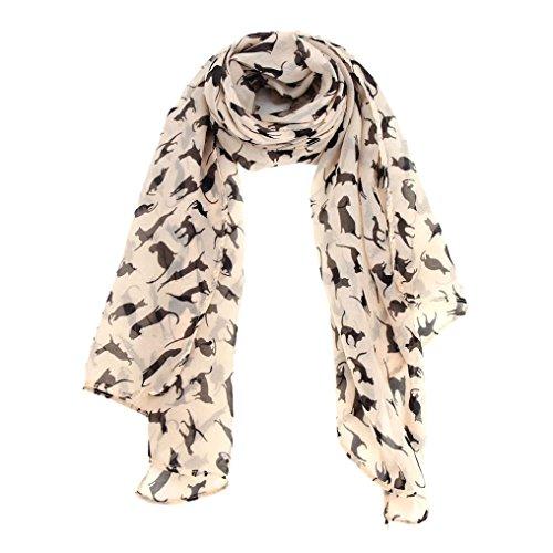 Distressed Weißen Handtuch Halter (Schal,WINWINTOM Frauen-Chiffon- Verpackungs-Dame-Schal Chiffon Schal Schals)