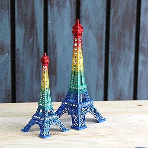K&C Eiffel Tower Decor, Dadoudou Creative 18cm Iron Metal Paris Eiffel Tower Model Figurine Statue (Archi Wall Art)