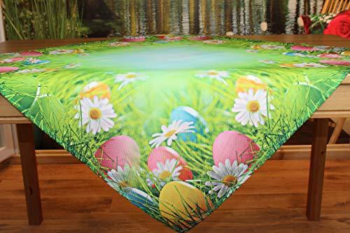 Kamaca Serie Bunte Ostereier IM Gras moderner Trendiger Fotodruck EIN Eyecatcher zu Frühling Ostern (Mitteldecke 85x85 cm)