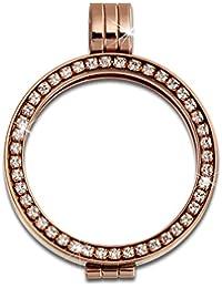 Adamello coin versión 25 mm acero inoxidable-colgantes circonita rosa joyas ESC054W