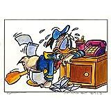 Original Acrylfarben auf Acrylmalkarton: Donald Duck Nothing but bills!/ 30x40 cm