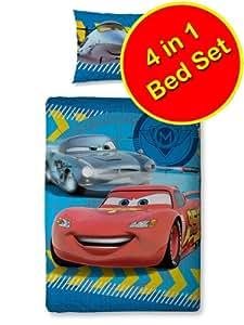 Disney Cars 'Spy' 4 in 1 Junior Bed Set (Duvet + Pillow + Covers)
