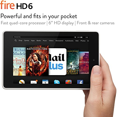 "Fire HD 6, 6"" HD Display, Wi-Fi, 16 GB (White)"