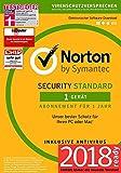 Norton Security Standard 2018 | 1 Gerät | 1 Jahr | Windows/Mac/Android/iOS |Versand in frustfreier Verpackung |Inklusive MH-Imperial Kundensupport
