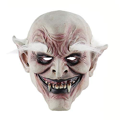 Kostüm Gruselige Mann Alte - Ganquer Halloween Gruselig Alter Mann Maske Scary Voll Gesichtsmaske Requisiten Kostüm Party Halloween Latex Lustig Gesichts- Schutz - Wie Ist Gezeigt, Free Size