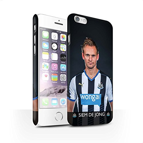 Offiziell Newcastle United FC Hülle / Matte Snap-On Case für Apple iPhone 6 / Pack 25pcs Muster / NUFC Fussballspieler 15/16 Kollektion De Jong